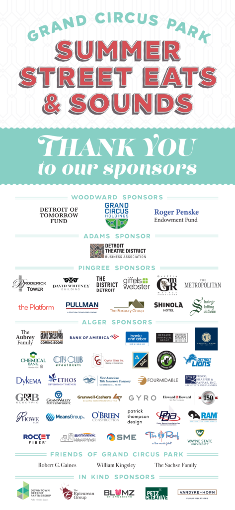 Summer Street Eats & Sounds - Thank you to our sponsors
